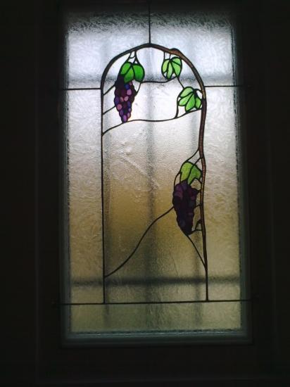 Vitrail deco fenetre modele vignes for Decoration fenetre vitrail